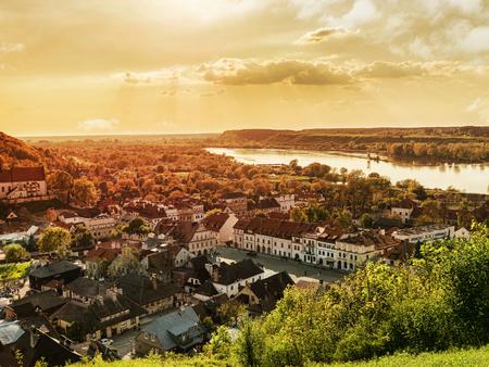 kazimierz: Panorama of Kazimierz Dolny town over the Vistula river Poland