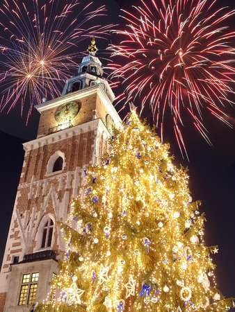 New Year  Eve in Krakow, Poland photo
