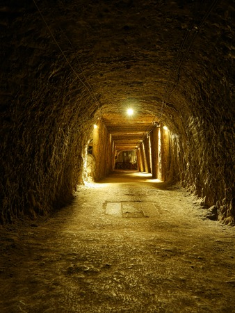 tunneling: One of galleries in Bochnia Salt Mine, Poland
