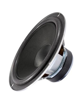 sub woofer: Audio bass speaker isolated on white