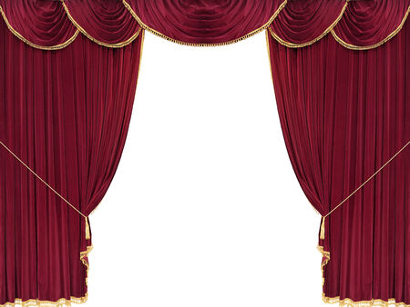red curtain: Red drop curtain with white copy space