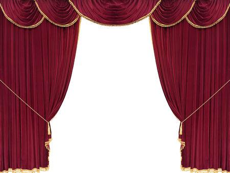cortinas rojas: Telón rojo con copia espacio en blanco