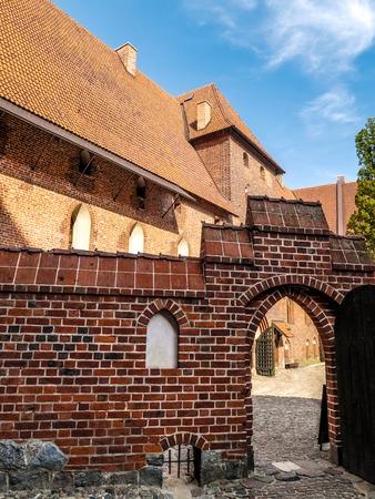 teutonic: Teutonico castello di Malbork nella regione Pomerania, Polonia
