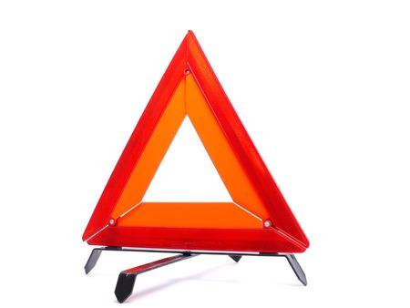 Warning triangle isolated on white background