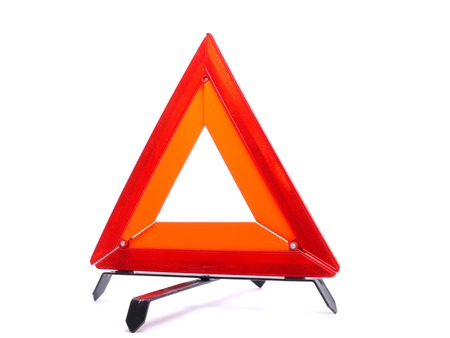 Warning triangle isolated on white background