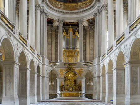 louis the rich heritage: VERSAILLES, FRANCE - AUGUST 28 2013: Royal Chapel inside Versailles Palace, France