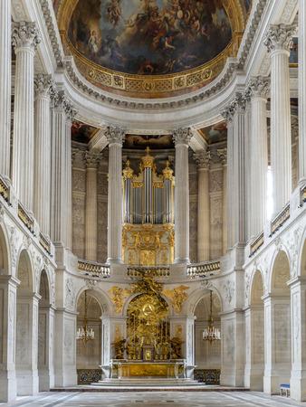 ile de france: VERSAILLES, FRANCE - AUGUST 28 2013: Royal Chapel inside Versailles Palace, France