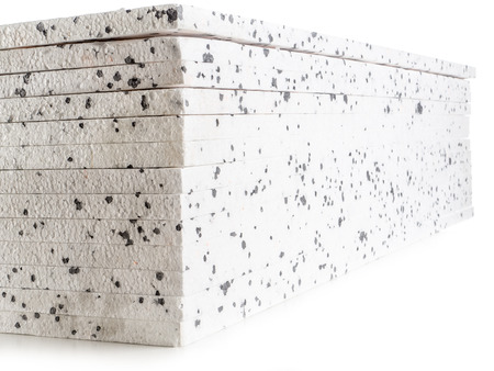 admixture: Pack of insulation styrofoam panels with graphite additive