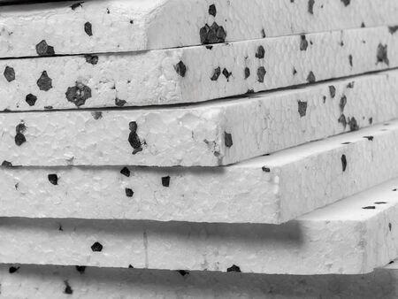 admixture: Closeup of insulation styrofoam panels with graphite additive