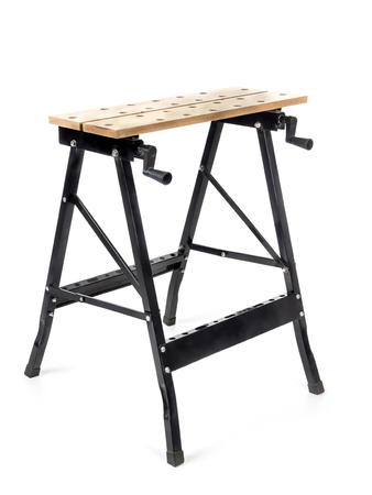 sawhorse: Adjustable sawhorse shot on white