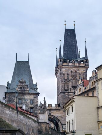 charles bridge: Charles Bridge Towers, Praque, Chech Republic