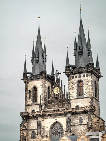 old town square: Historical Church of Our Lady located on the Old Town Square, Praque, Czech Republic