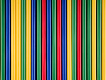 lineas rectas: pajitas de colores dispuestos en l�nea recta