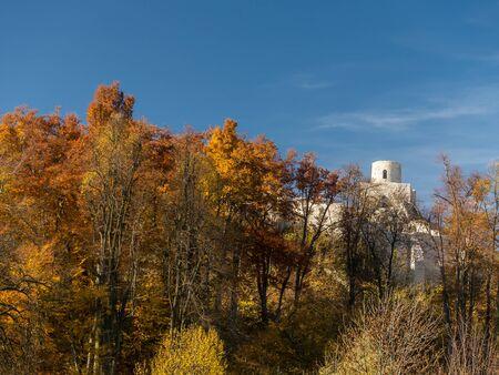 upland: Ruins of medieval castle Smolen, near Pilica. Krakow-Czestochowa Upland, Poland