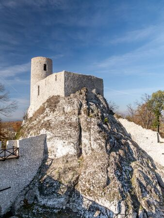 upland: Ruins of medieval castle Smolen, near Pilica. located on the Trail of the Eagles Nest within the Krakow-Czestochowa Upland, Poland
