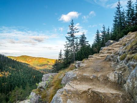 touristic: Alpine touristic trail in High Tatra, Poland