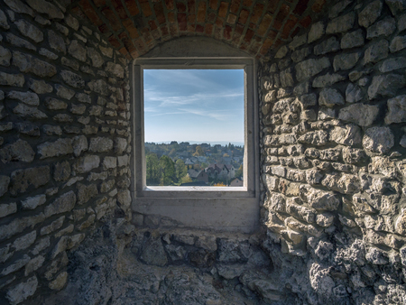 upland: One of the chambers in the medieval castle Ogrodzieniec, located on the Trail of the Eagles Nest within the Krakow-Czestochowa Upland, Poland