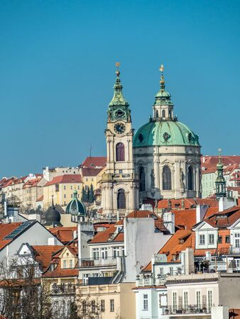 saint nicolas: View of the Lesser Town and St. Nicholas Church in Prague, Czech Republic