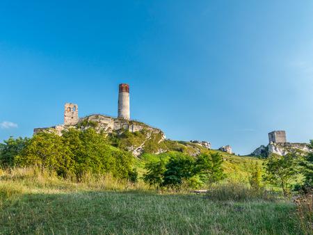 Medieval castle ruins in Olsztyn near Czestochowa, Poland