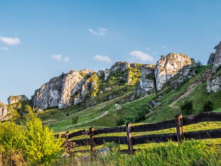 Lime rock outlier formation in the vicinity of Olsztyn castle ruins near Czestochowa, Poland