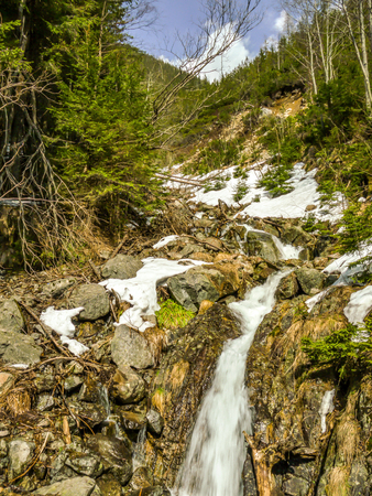 One of three waterfalls, which can be found on the way to the Lake Morskie Oko in the Tatra National Park, Poland