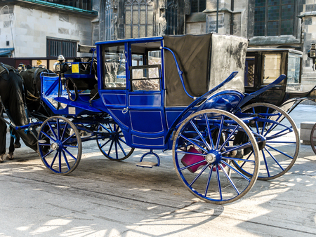 Elegant Viennesse Carriages, Vienna, Austria Stock Photo