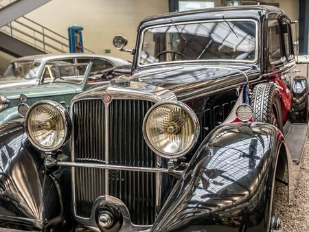 PRAGUE, CZECH REPUBLIC - MARCH 8 2017: Oldtimer Tatra 80, from 1935, showcased in the National Technical Museum of Prague