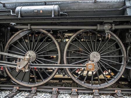 PRAGUE, CZECH REPUBLIC - MARCH 8 2017: Steam locomotive in the National Technical Museum of Prague
