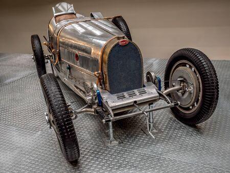 PRAGUE, CZECH REPUBLIC - MARCH 8 2017: Oldtimer racing car Bugatti 51 from 1931, National Technical Museum of Prague