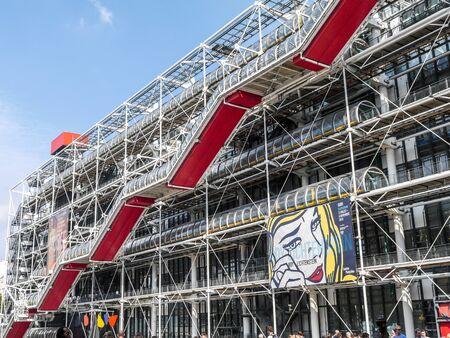 PARIS, FRANCE - AUGUST 30 2013: Centre Georges Pompidou in Paris, France Redakční