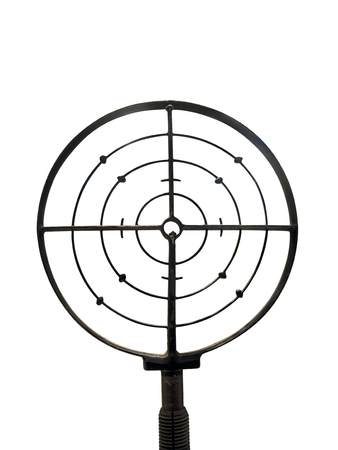 Vintage aircraft sight over white background