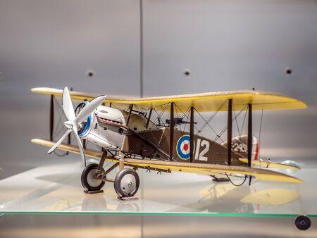 PRAGUE, CZECH REPUBLIC - MARCH 8 2017: Two seater British Bristol F2B Fighter 1917-1918, National Technical Museum of Prague Redakční