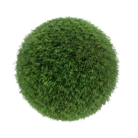 Sphere covered with fresh grass Stock Photo