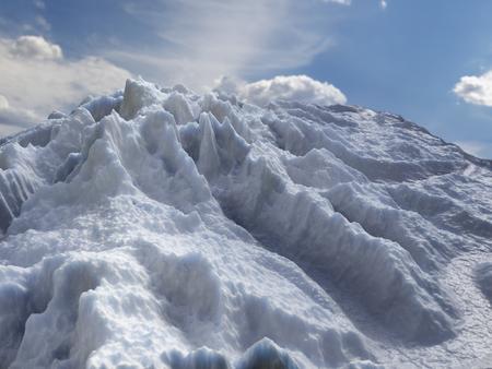 3D render of Iceberg landscape against the sky