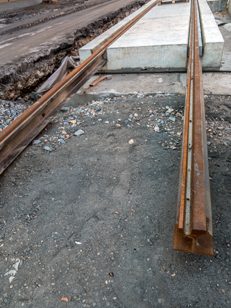 New tramway track under construction