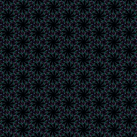 Computer generated geometric fractal design pattern