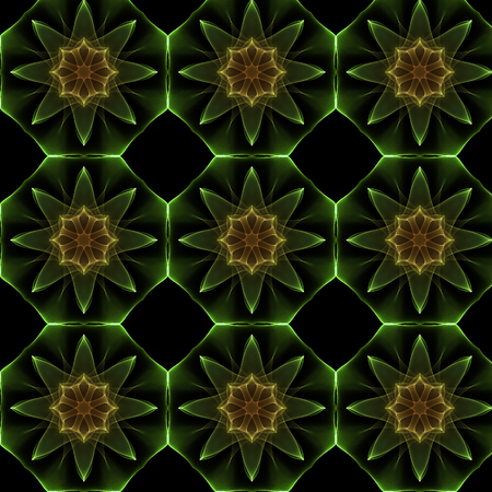 Computer generated floral fractal design pattern Stock Photo
