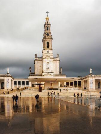 FATIMA, PORTUGAL - 6 APRIL, 2019:  Sanctuary of Fatima in Portugal Redakční