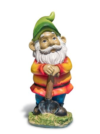 Classic garden gnome isolated on white