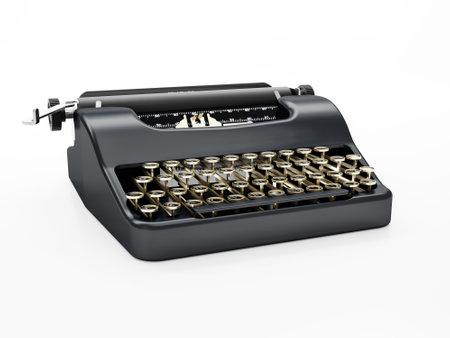 Standard classic typewriter shot on white background