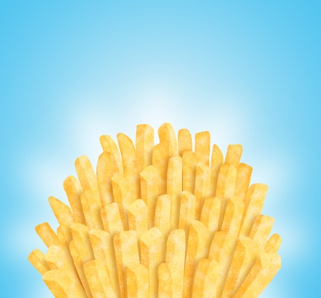Bunch of fries.  Stock Photo