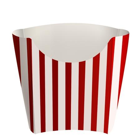 Leere Verpackungen Streifen für Französisch frites, auf weißem Hintergrund Standard-Bild - 12779972