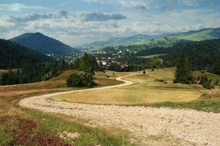 Road in Pieniny National Park. The Pieniny Mountains in Poland Stock Photo