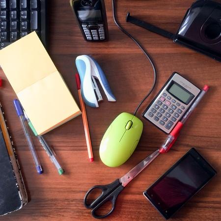 Office stuff on the desk