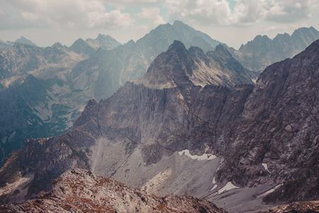 Het landschap van de berg in de Tatra