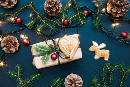 christmas decor: Wrapped Christmas present