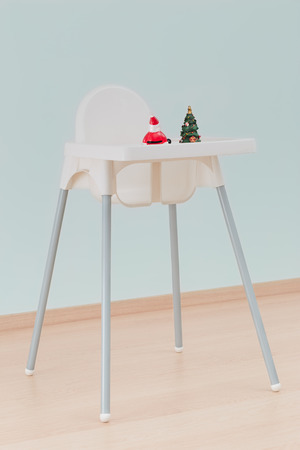 christmassy: Christmassy toys on childs chair