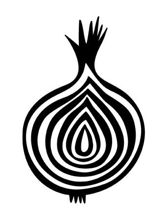 slice onion vector  Vector