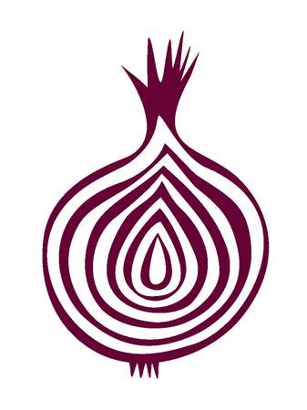 onion: sliced purple onion vector illustration Illustration