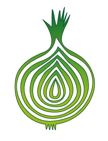sliced: rodajas ilustraci�n vectorial cebolla Vectores